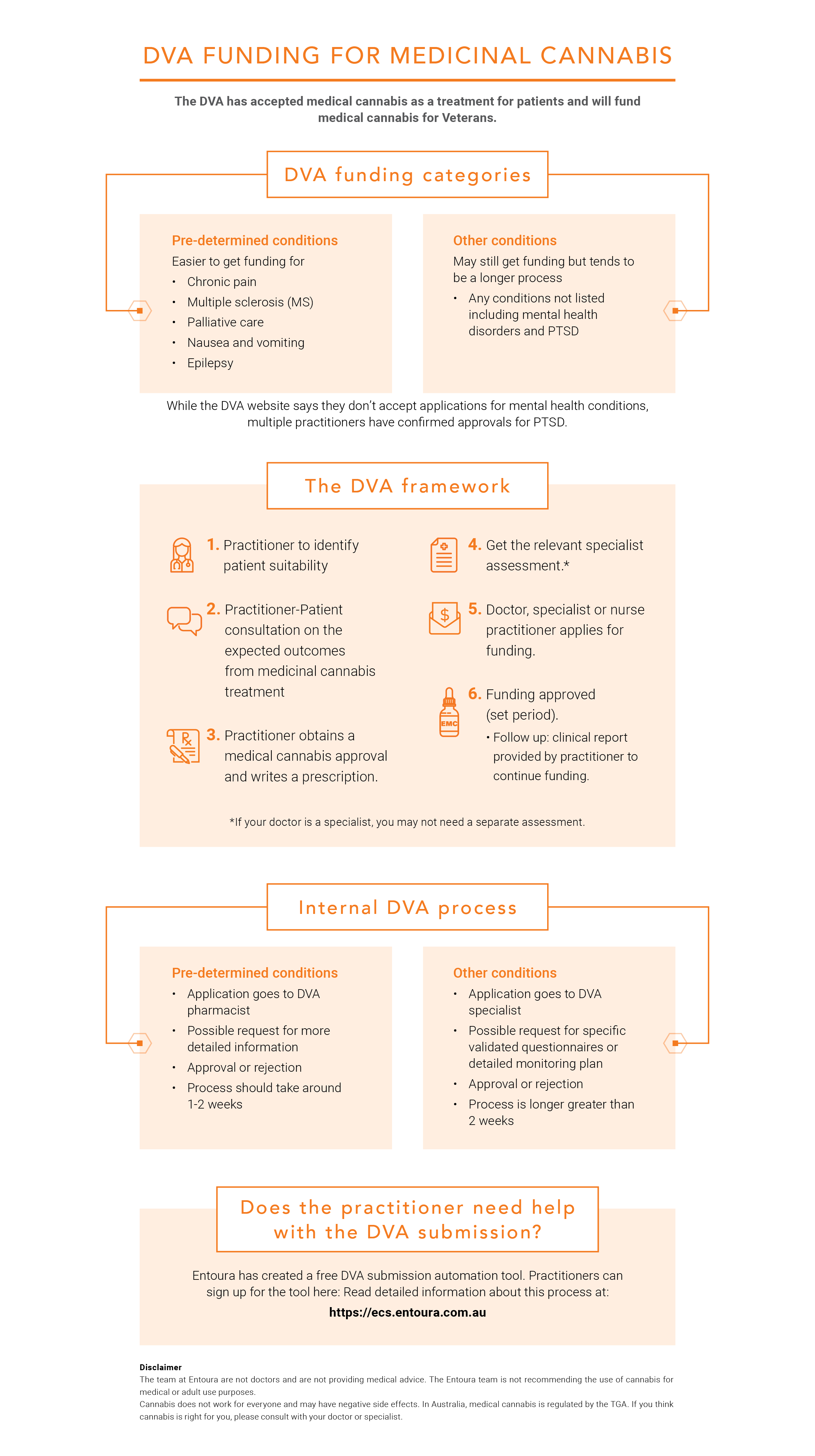Entoura DVA Funding Process Infographic