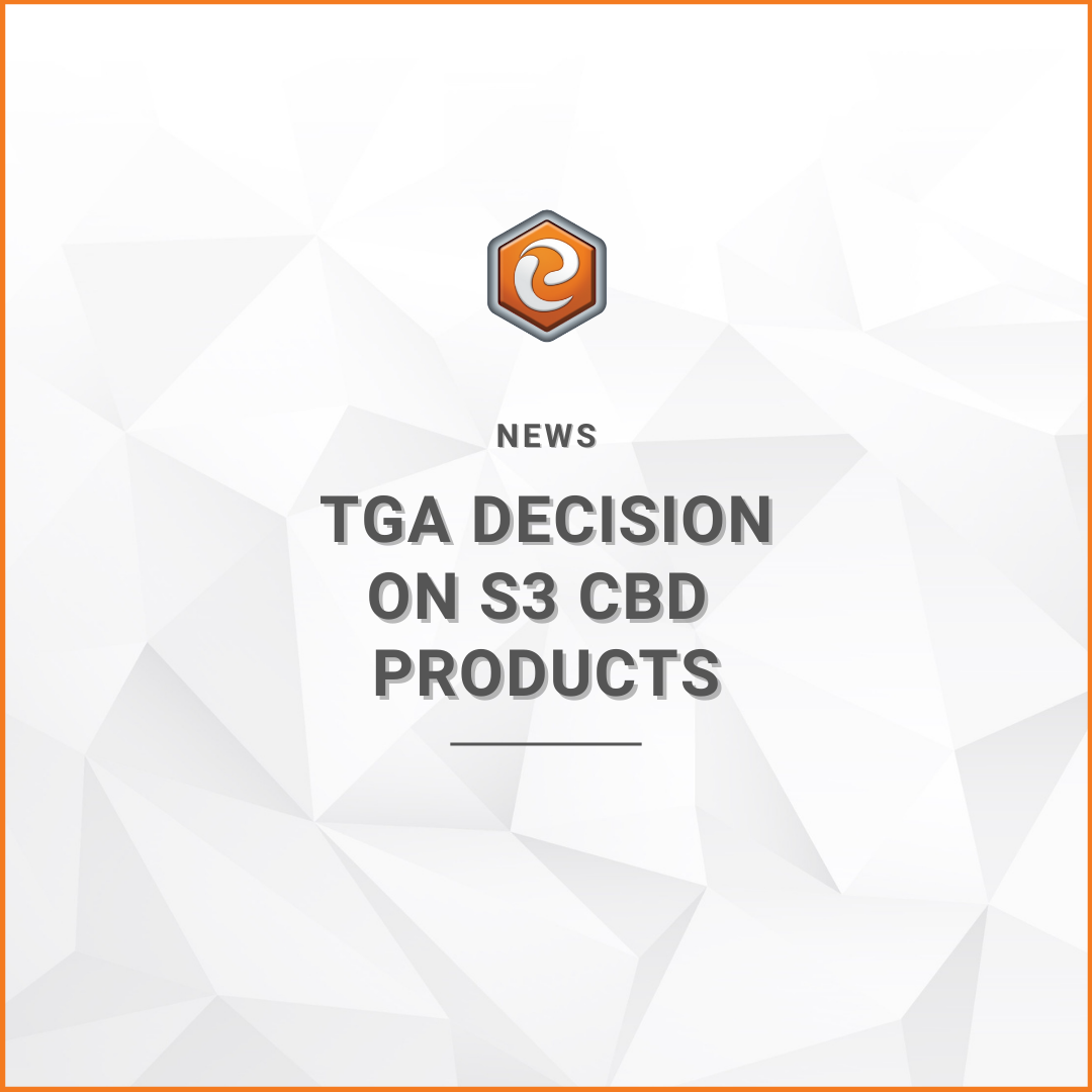 TGA Decision cbd oil legal